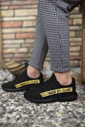 Riccon Erkek Siyah Sarı Cilt Sneaker 0012santo 4