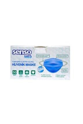 Senso Med 3 Katlı Telli Yumuşak Yeni Nesil Elastik Kulaklı 50 Adet Medikal Maske 3