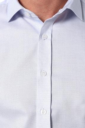 Network Erkek Beyaz Mavi Beyaz Mavi Italyan Yaka Gömlek 1075290 3
