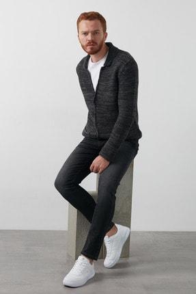 Erkek Koyu Gri Slim Fit Pamuklu Jack Jeans Kot Pantolon 211 Lcm 121048 Dn1125 resmi