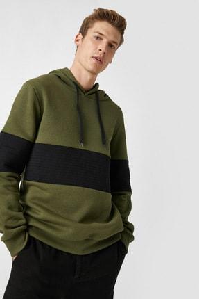 Koton Kapüsonlu Renk Bloklu Uzun Kollu Sweatshirt 0