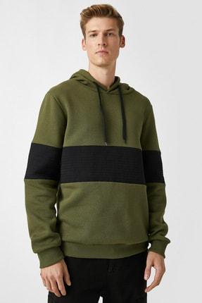 Koton Kapüsonlu Renk Bloklu Uzun Kollu Sweatshirt 2