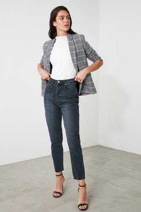 TRENDYOLMİLLA Lacivert Yüksek Bel Mom Jeans TWOAW21JE0835 0