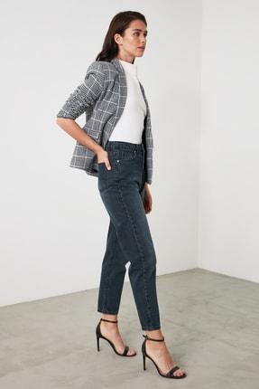 TRENDYOLMİLLA Lacivert Yüksek Bel Mom Jeans TWOAW21JE0835 3