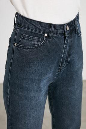 TRENDYOLMİLLA Lacivert Yüksek Bel Mom Jeans TWOAW21JE0835 4
