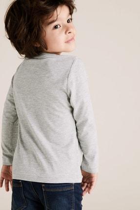 Marks & Spencer Erkek Çocuk Pamuklu T-Rex Desenli T-Shirt 2