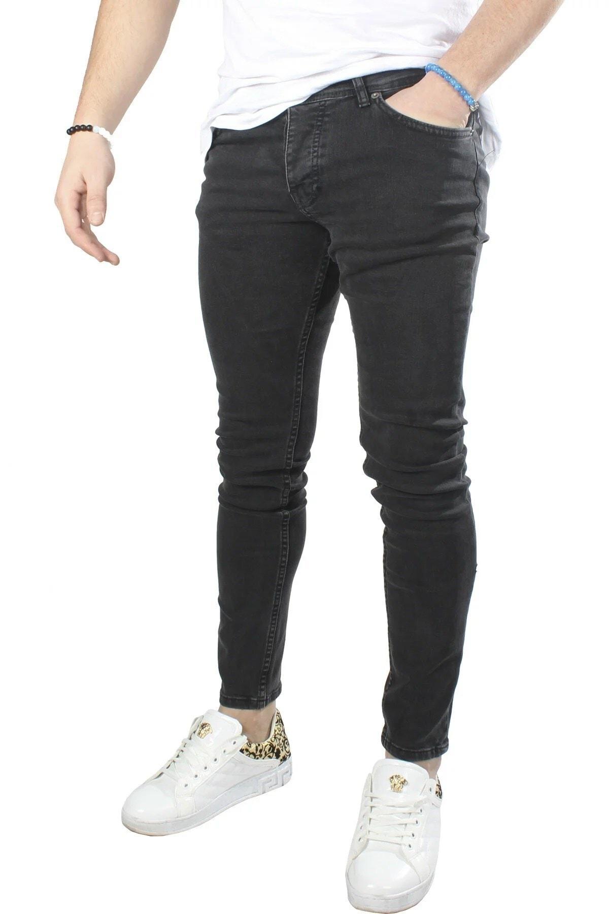 Erkek Kot Pantolon 8K-2100306-004-1 Füme
