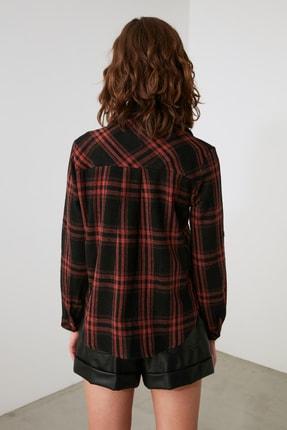 TRENDYOLMİLLA Siyah Cepli Gömlek TWOAW21GO1034 3