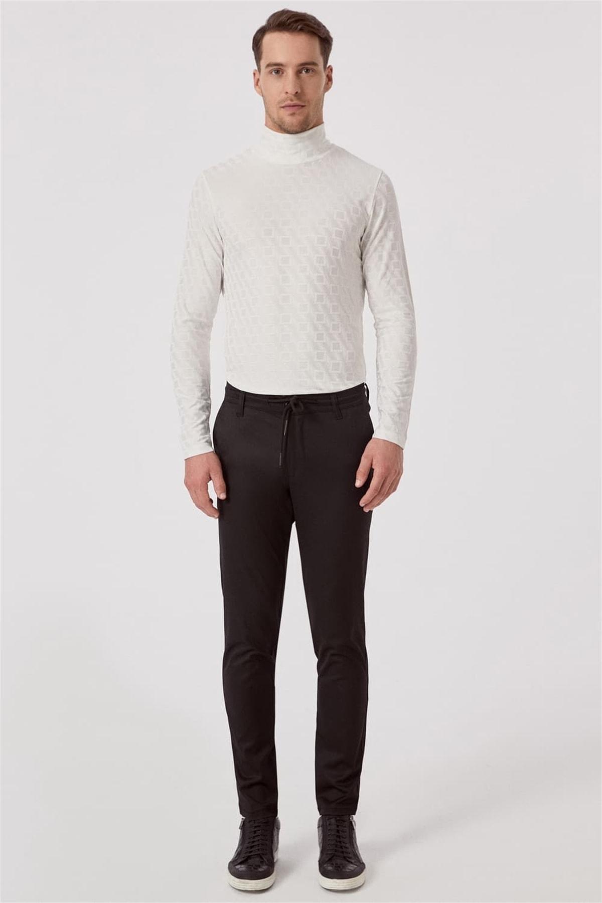 Efor ATP 015 Rahat Kesim Siyah Spor Pantolon 0