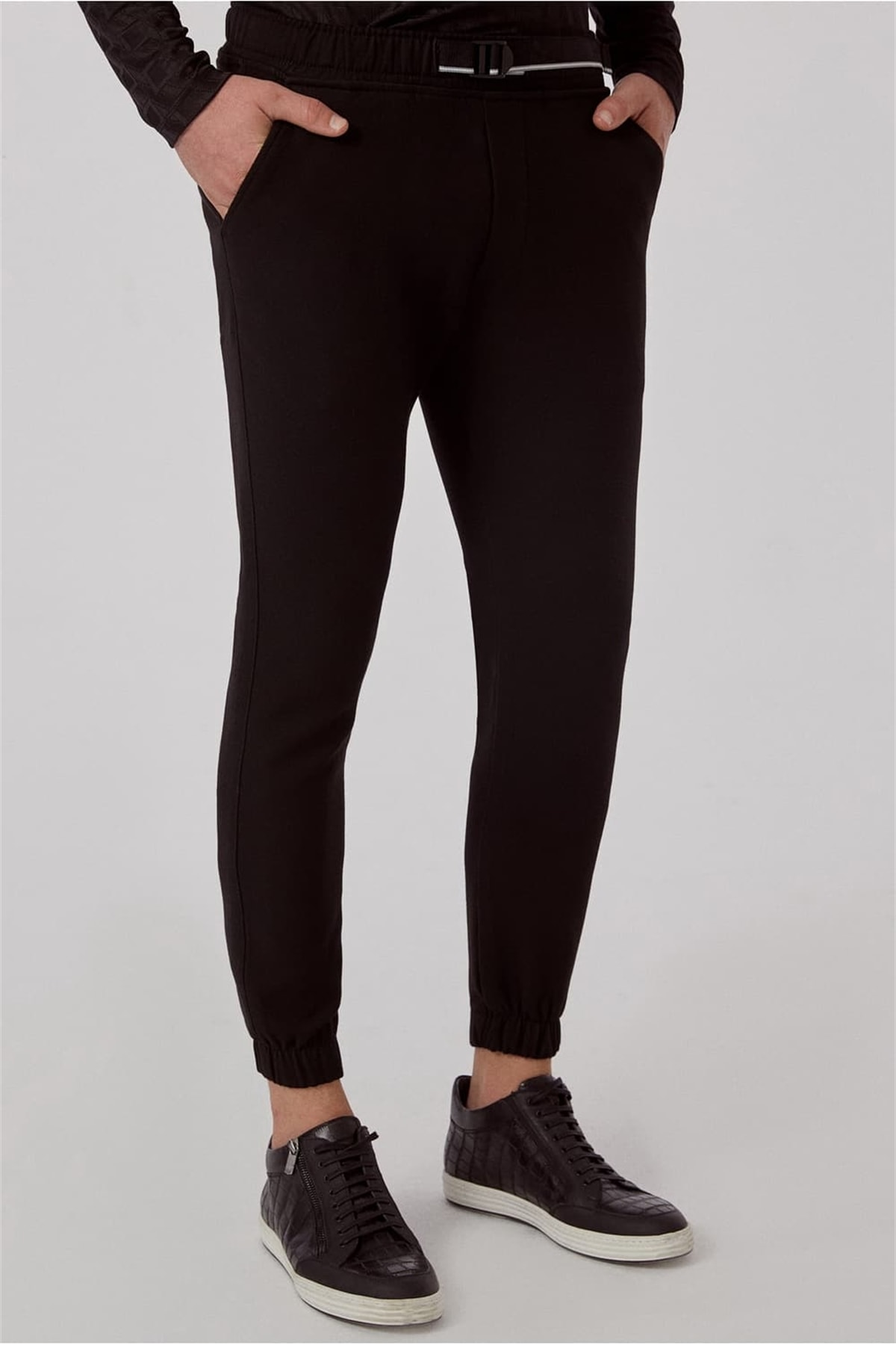 Efor ATP 017 Slim Fit Siyah Spor Pantolon 1