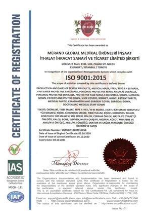 Merand Global 3 Katlı Spunbond Cerrahi Maske - 1 Kutu ( Kutu Içi 50 Adet ) - Siyah 2
