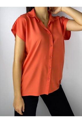 ELBİSENN Kadın Turuncu Gömlek 0
