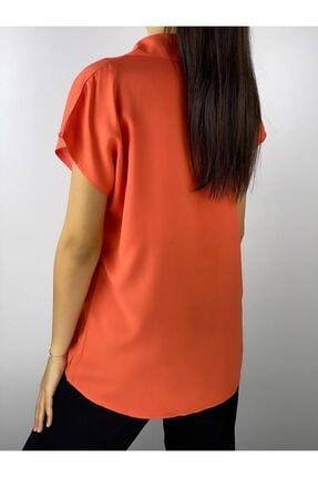 ELBİSENN Kadın Turuncu Gömlek 1