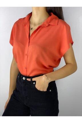 ELBİSENN Kadın Turuncu Gömlek 2