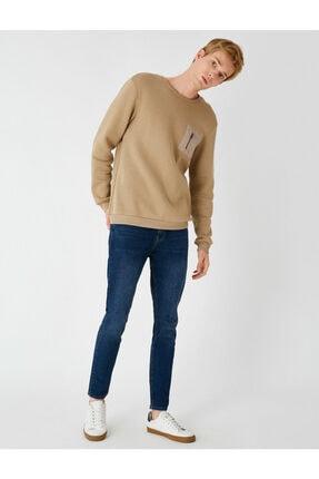 Koton Erkek Mavi Micheal Skinny Fit Jean Pantolon 3