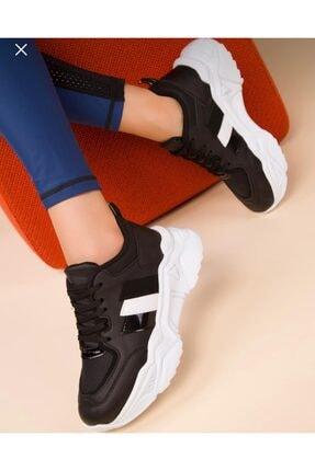 ZERBANOZ Kadın Siyah Spor Ayakkabı 0