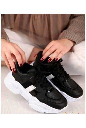 ZERBANOZ Kadın Siyah Spor Ayakkabı 1