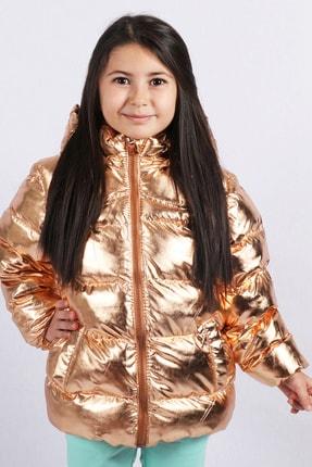 Kız Bebek Altın  Kürk Astarlı Mont Kaban resmi