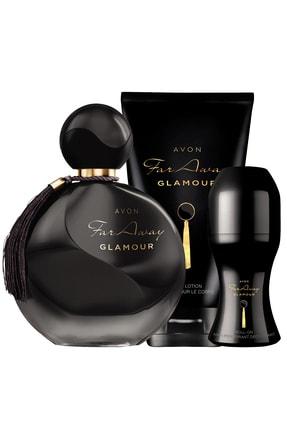 Avon Far Away Glamour Parfüm Vücut Losyonu Rollon Paketi 0
