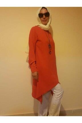 Mercan Kadın Turuncu Tesettür Tunik 1