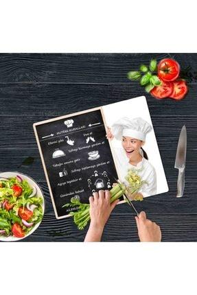 Saban Mutfak Kuralları Cam Kesme Tahtası Cam Kesme Tablası 30 vm X 40 cm 1