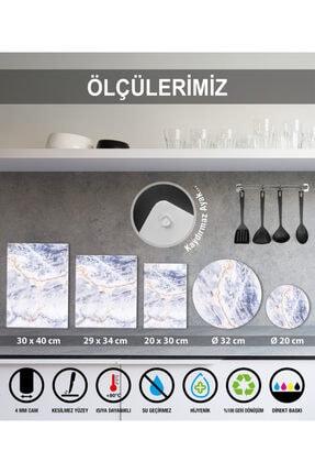 Saban Mutfak Kuralları Cam Kesme Tahtası Cam Kesme Tablası 30 vm X 40 cm 4
