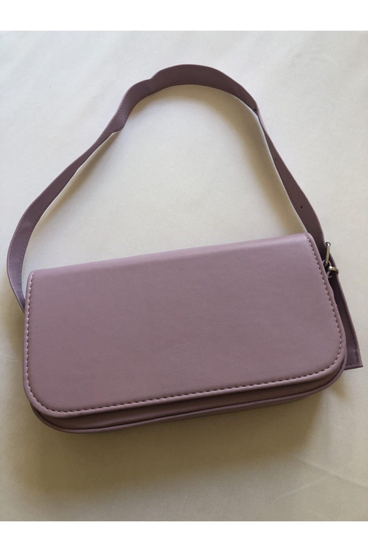 V&K BAGS Kadın Lila Baget Çanta