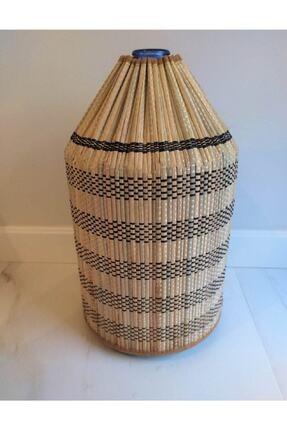 Yamamiya Dayanıklı Şık Hasır Bambu Damacana Kılıfı 2