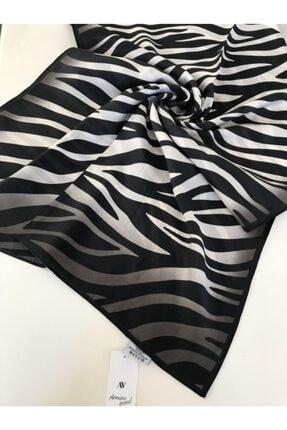 Armine Kadın Siyah Trend Zebra Desen Modal Şal 02 0