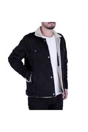 Efeel Fur Jacket Kürklü Erkek Mont Siyah Kalın Gabardin Ceket Kalın Kürklü Regular Fit 1