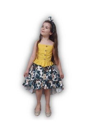 Riccotarz Kız Çocuk Elizabeth Sarı Etekli Takım 1
