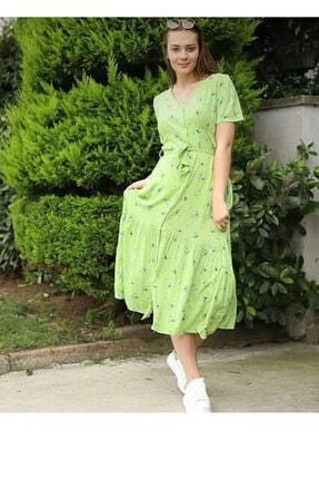 Kadın Fıstık Yeşili Elbise 1234FISTIK