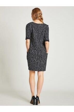 Vekem Kadın Siyah Jakarlı Rahat Kesim Elbise 2
