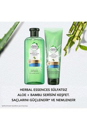 Herbal Essences Sülfatsız Güç Ve Nem Aloe + Bambu Şampuan 380 Ml + Saç Bakım Kremi 275 Ml 4