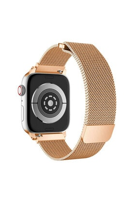TahTicMer Apple Watch Seri 6 40 Mm Çelik Kayış Hasır Örme Kordon Milano 0