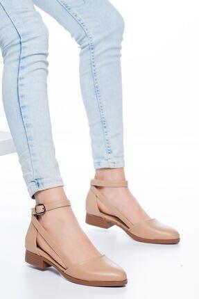 MaskButik Kadın Ten Rayna Kısa Topuk Cilt Ayakkabı 1