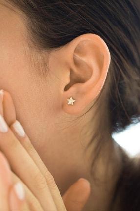 Gelin Pırlanta Kadın Altın 14 Ayar Pırlantalı Yıldız Küpe GLN300103 1