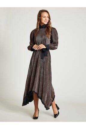 VKM Kadın Bakır Simli Rahat Kesim Elbise 9209-0025 0