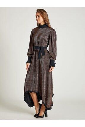 VKM Kadın Bakır Simli Rahat Kesim Elbise 9209-0025 1