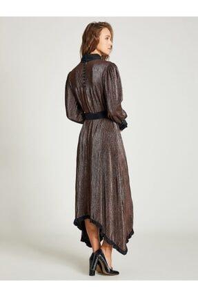 VKM Kadın Bakır Simli Rahat Kesim Elbise 9209-0025 2