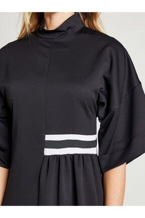 VKM Kadın Siyah Dik Yaka Rahat Kesim Elbise 3
