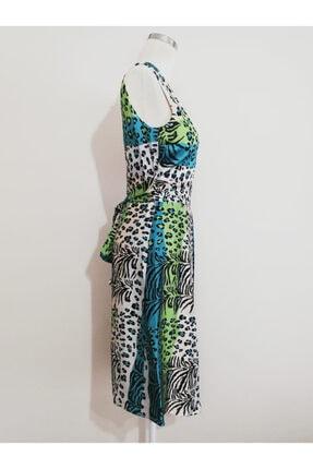Vekem Kadın Leopar Desenli Midi Elbise 1