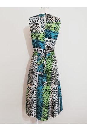 Vekem Kadın Leopar Desenli Midi Elbise 2