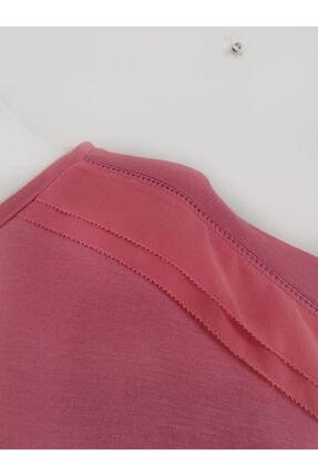 Vekem Kadın Pembe Sıfır Yaka Japone Kol Bluz 9107-0071 3