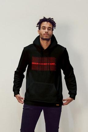 Pasage Error Baskılı Kapüşonlu Sweatshirt 1