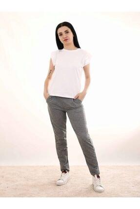 Kadın Gri Çizgili Pantolon PMBCKT88888111181