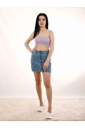 Kadın Lila Askılı Crop Tişört PMBCKT0000278181
