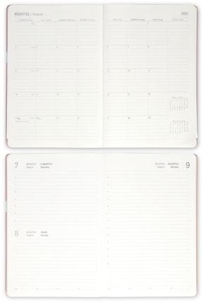 Matt Notebook Füme 2021 Günlük Ajanda 2