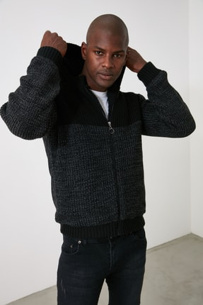 Picture of Siyah Erkek Hırka TMNAW21HI0187