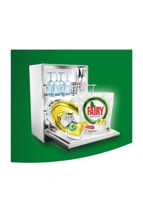 Fairy Hepsi Bir Arada Limon Kokulu Bulaşık Makinesi Deterjanı  100 Yıkama 2